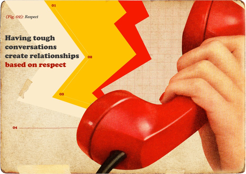 Advertising - Tough conversations create relationships based on respect