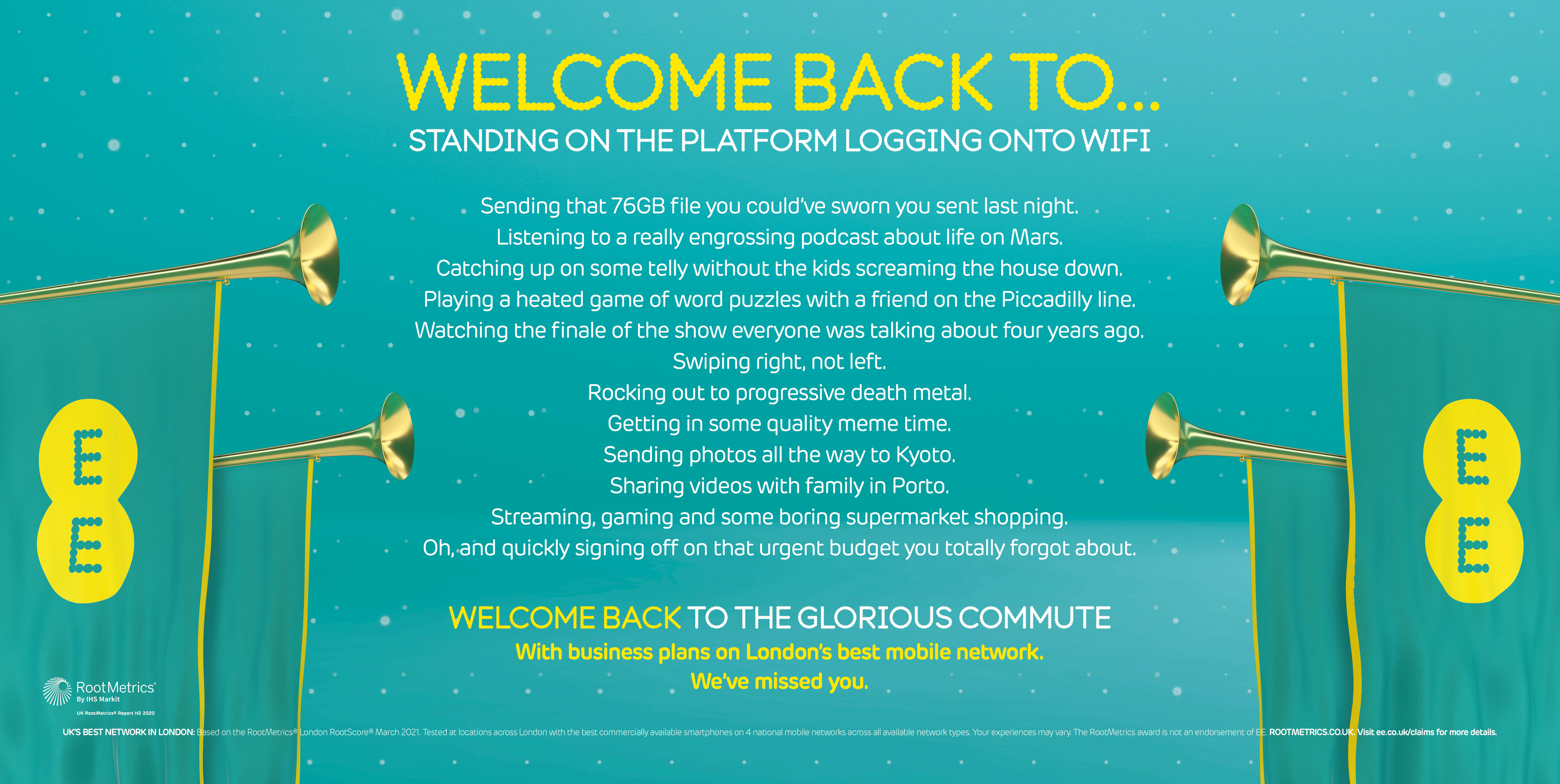 EE Business Welcome Back 48 Sheet poster